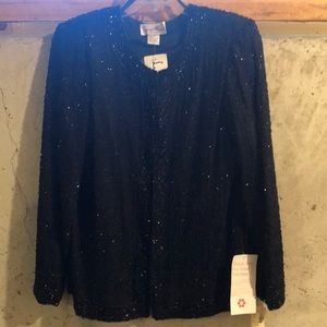 Black Fully Beaded Fancy Jacket